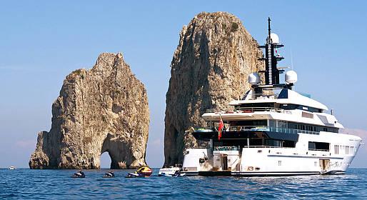 Alugar um iate de luxo em Capri