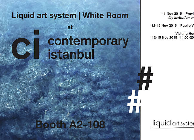 Liquid art system at Contemporary Istanbul 2015