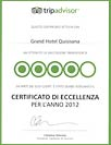 Trip Advisor - Certificato di Eccellenza 2012